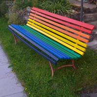 Regenbogen-Bänkli