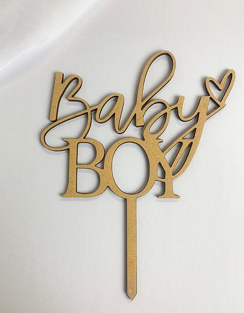 """Baby Boy"" Baby Shower Cake Topper"