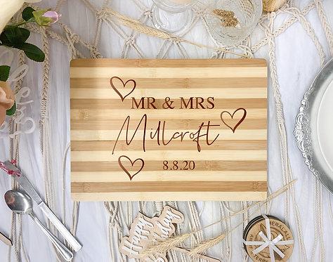 Engraved Board - Custom Lastname & Date