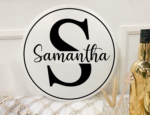 Double-layer name sign