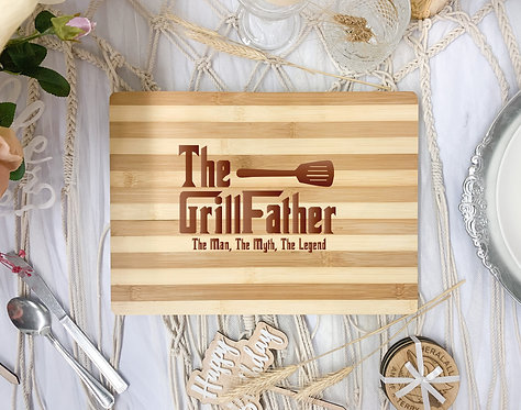 """Engraved Board - """"The GrillFather"""""""