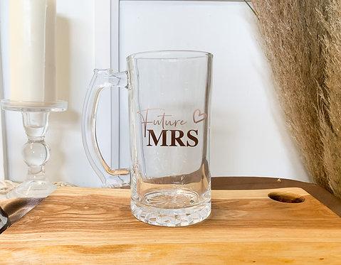 Custom Etched Beer Glass Mug