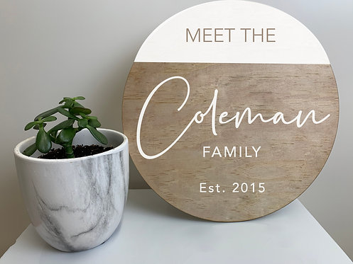 Half Circle Double-Layer Welcome Sign
