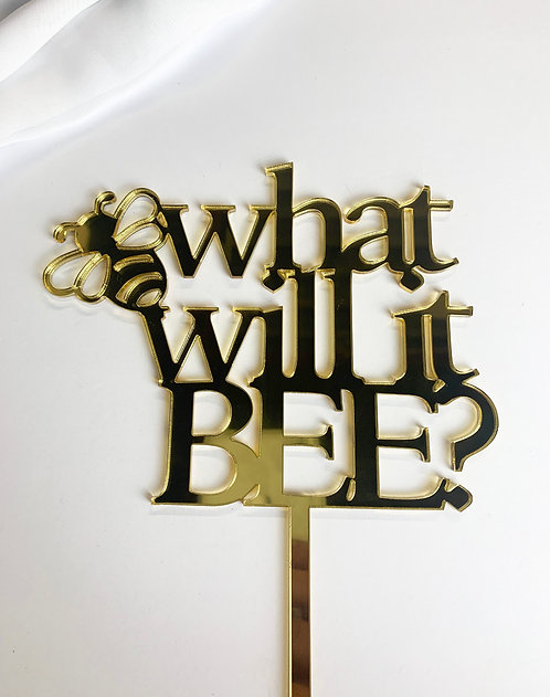 """""""What will it BEE?"""" Baby Shower Cake Topper"""