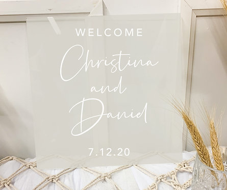 Double-Layer Clear Acrylic Welcome Sign