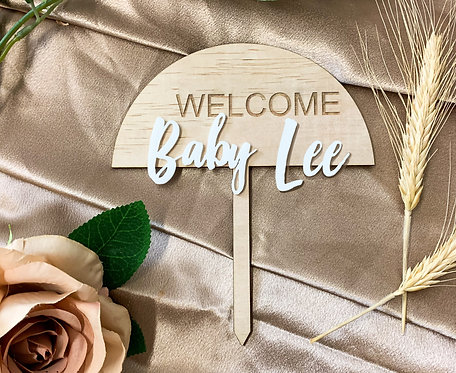 Welcome Baby - Lastname or Name
