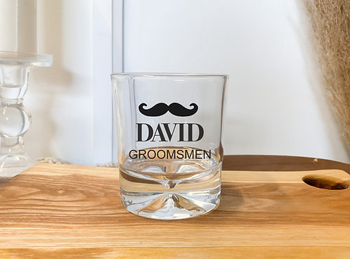 Custom Etched Whiskey Glass