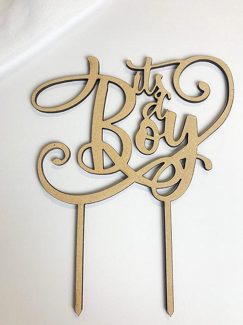 """It's a Boy"" Baby Shower Cake Topper"