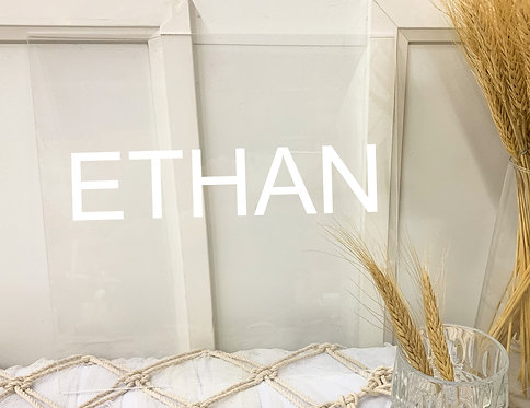 Double-layer Clear Acrylic name sign