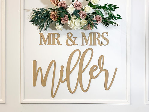Custom Mr & Mrs Lastname