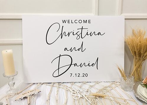 Double-Layer Welcome Sign