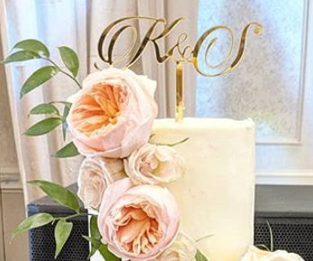 Custom Initials | Hope Cake Topper