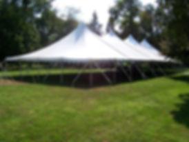 40 x 100 White Pole Tent