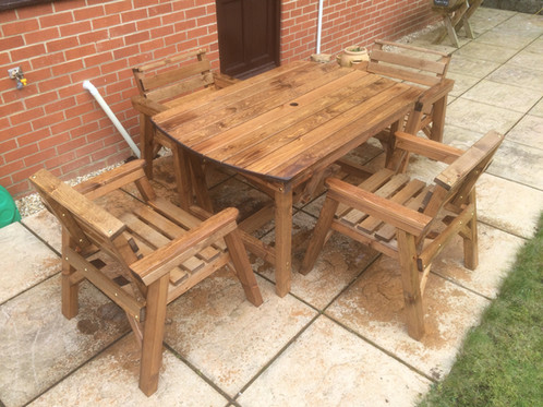 Wooden Garden Furniture 4  6  Table 4 Chairs. Wooden Garden Furniture 4  6  Table 4 Chairs   Shop   Fenton