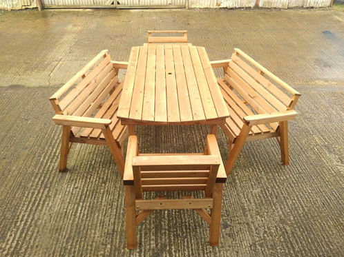 Classic Garden Furniture 6 Table 2 Bench Amp 2 Chairs