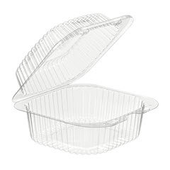 6x6x3 Clear Hinged Sandwich Container 500/case