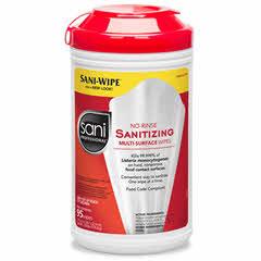 Sani Pro Disinfectant Wipes 6/case