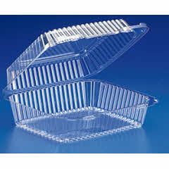 8x8x3 Clear Hinged ValuPack® Container 200/case