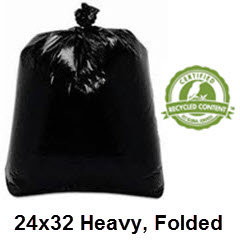 24x32 Black Heavy Can Liner 12-16 Gallon 500/case