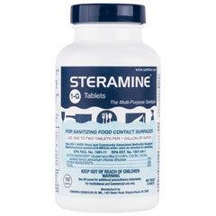 STERAMINE 1-G Sanitizing Tablets 6/150ct