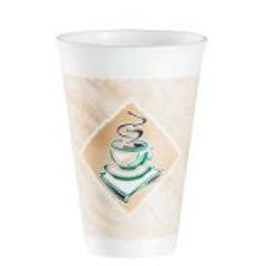 "16 oz White ""Café G"" Foam Cup Dart (16X16G) 1000/case"