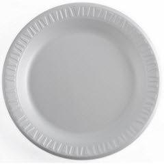 "10-1/4"" Flat White Non-Laminated Foam Plate 500/case"