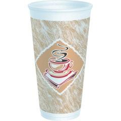 "20 oz White ""Café G"" Foam Cup Dart (20X16G) 500/case"