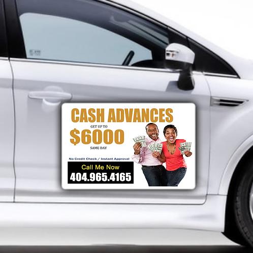Cash Advance - Car Magnet (2)