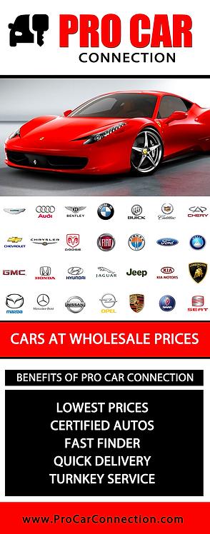 Pro Car - Pop-up Banner