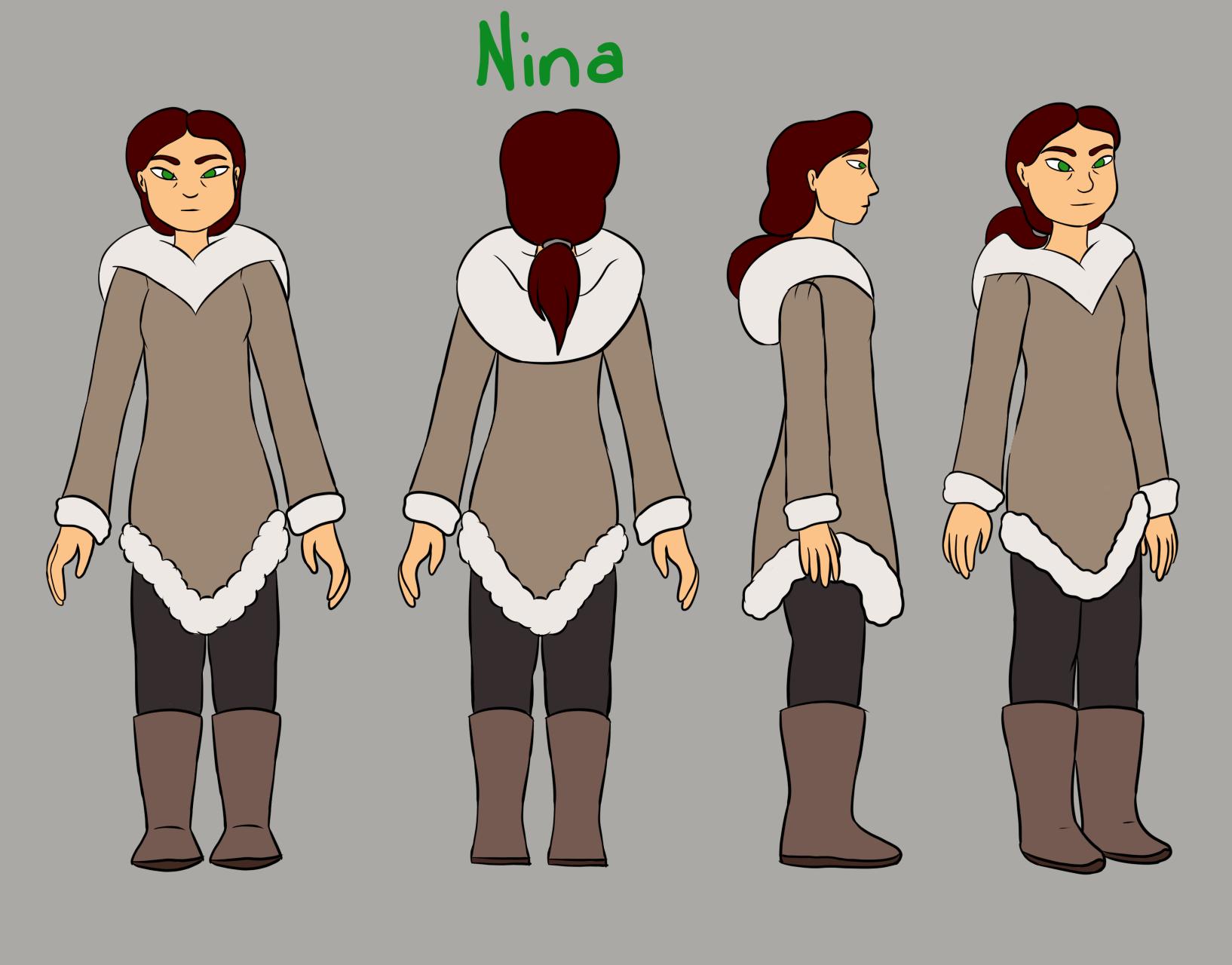 Nina (Human) Character Model Sheet