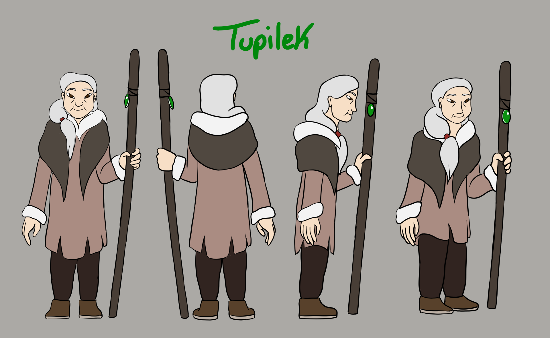 Tupilek Character Model Sheet