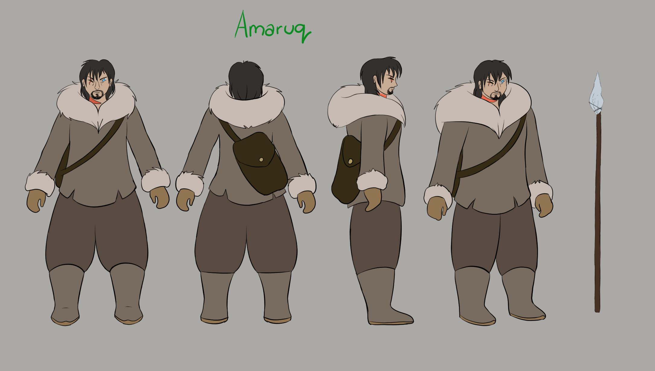 Amaruq Character Model Sheet