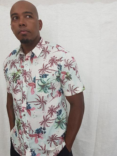Camisa Zinco Manga Curta Estampada