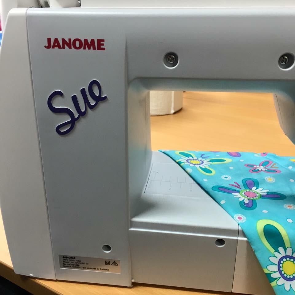 Sewing Machine Name Tag
