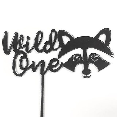 Wild One Raccoon Cake Topper