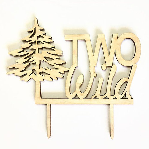 Two Wild Tree Cake Topper