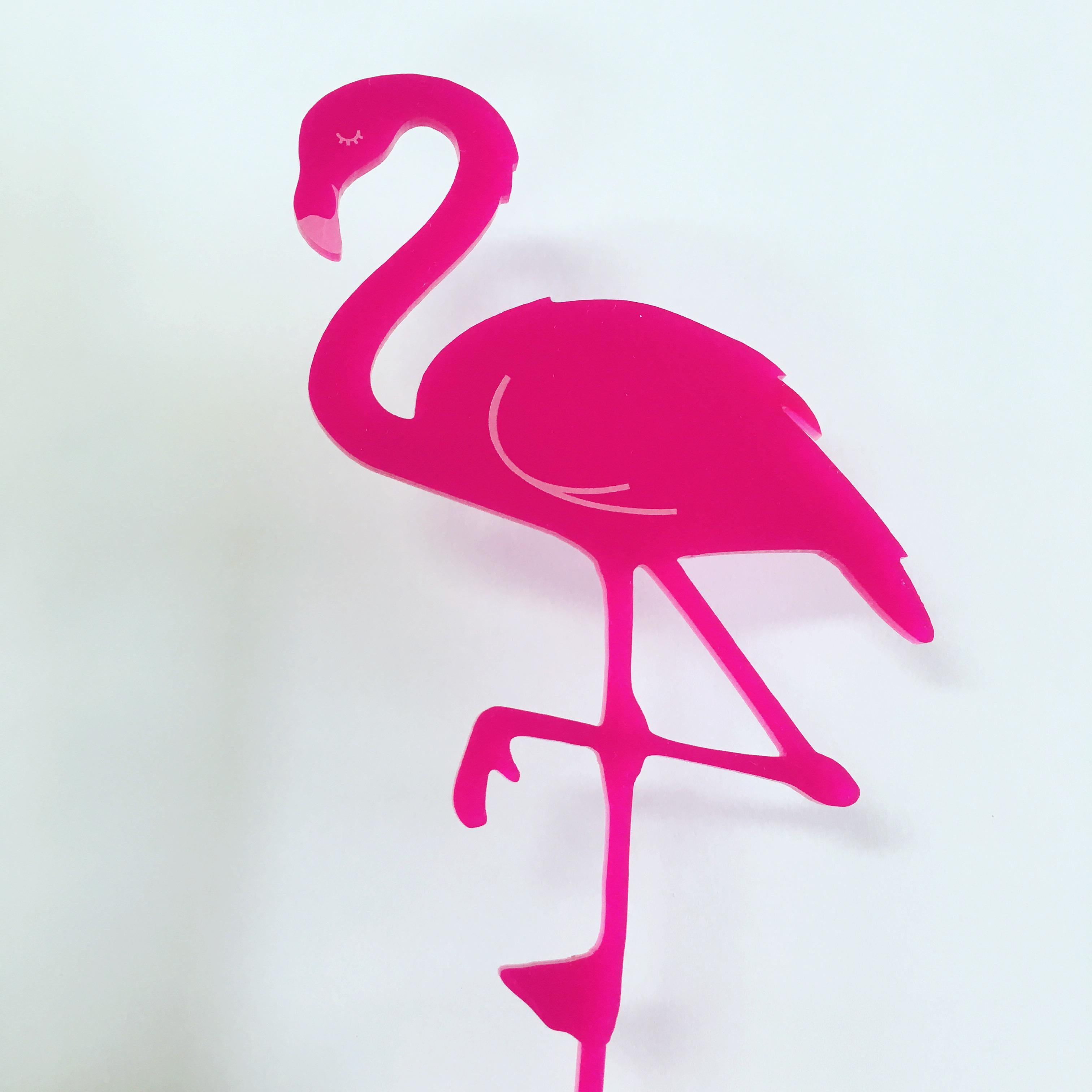 Pink Flamingo Cake Topper