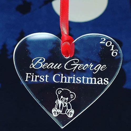 First Christmas Heart
