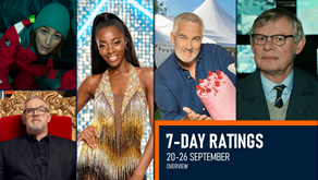 7-DAY RATINGS OVERVIEW: 20-26 SEPTEMBER 2021