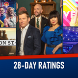 28-DAY RATINGS: 26 JULY - 01 AUGUST 2021