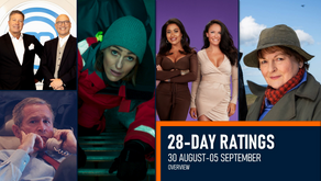 28-DAY RATINGS OVERVIEW: 30 AUG-05 SEPT 2021
