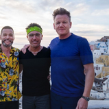 GORDON, GINO AND FRED GO GREEK FOR LATEST ROAD TRIP