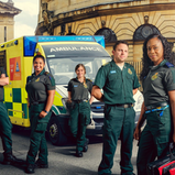 UKTV's W ANNOUNCE NURSES ON THE WARD AND RETURN TO INSIDE THE AMBULANCE