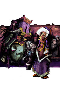 "Fantasy illustration ""Nomads"""