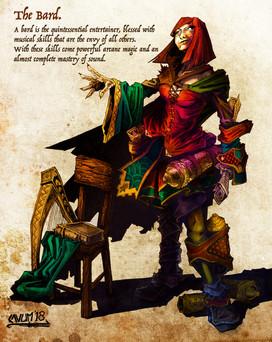Female Bard Character Design