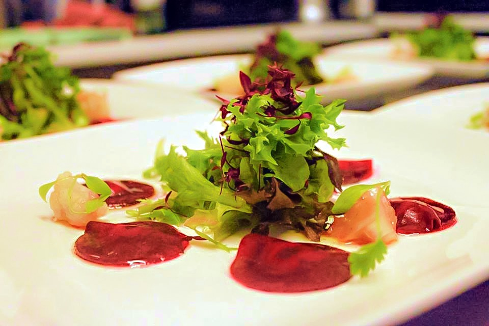Raw beetroot ravioli
