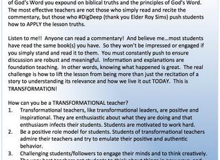 📚 #TeachingTipTuesday 📚 - TEACH TO TRANSFORM NOT INFORM!