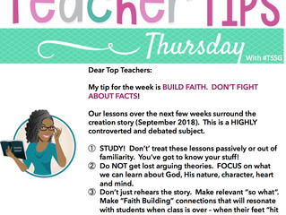 ☝📘 Teaching Tip Thursday - September 2, 2018