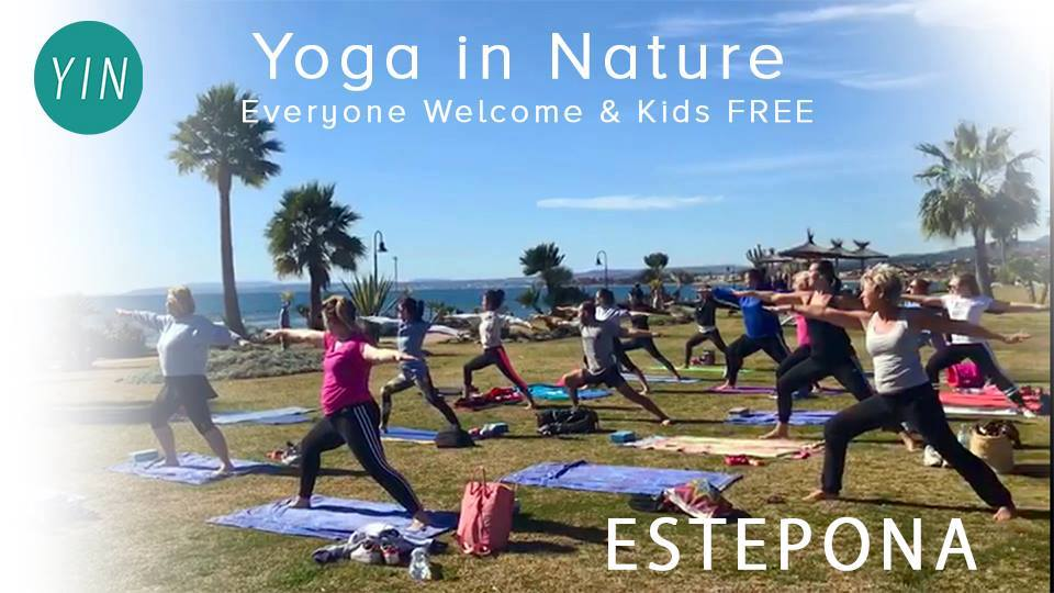 Yoga in Nature with Lisa, kids FREE, come and join us when you are on holiday in Spain!