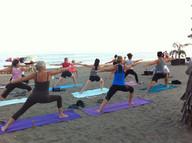 beach yoga estepona
